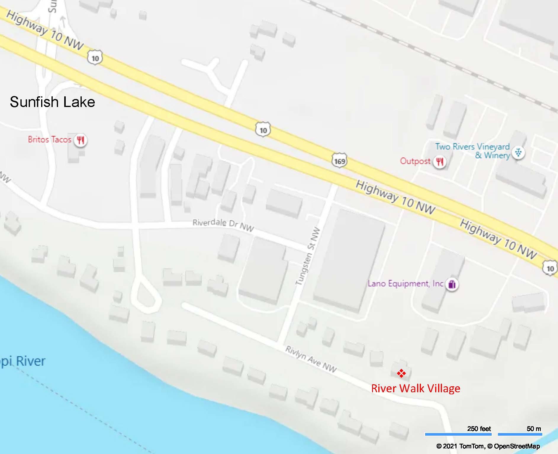 River Walk Location Map